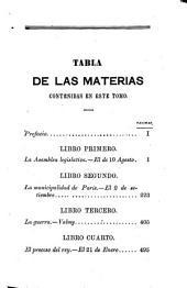 Historias de la Convencion nacional: Volumen 1