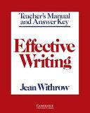 Effective Writing Teacher's manual