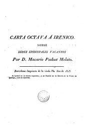 Carta octava a Irénico sobre sedes episcopales vacantes