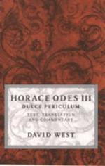 Horace Odes 3