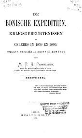 De Bonische expeditiën: krijgsgebeurtenissen op Celebes in 1859 en 1860, Volume 1