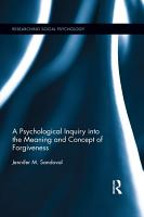 A Psychological Inquiry into the Meaning and Concept of Forgiveness PDF