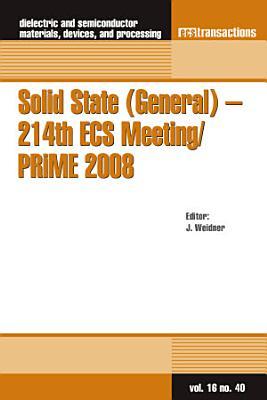 Solid State  General    214th ECS Meeting PRiME 2008 PDF