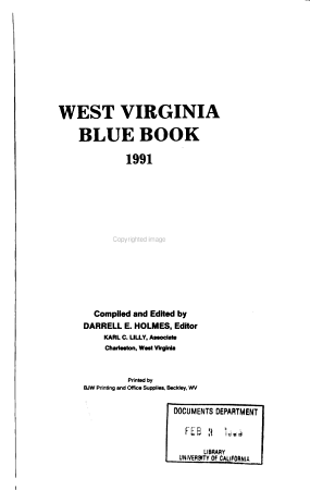 West Virginia Blue Book PDF
