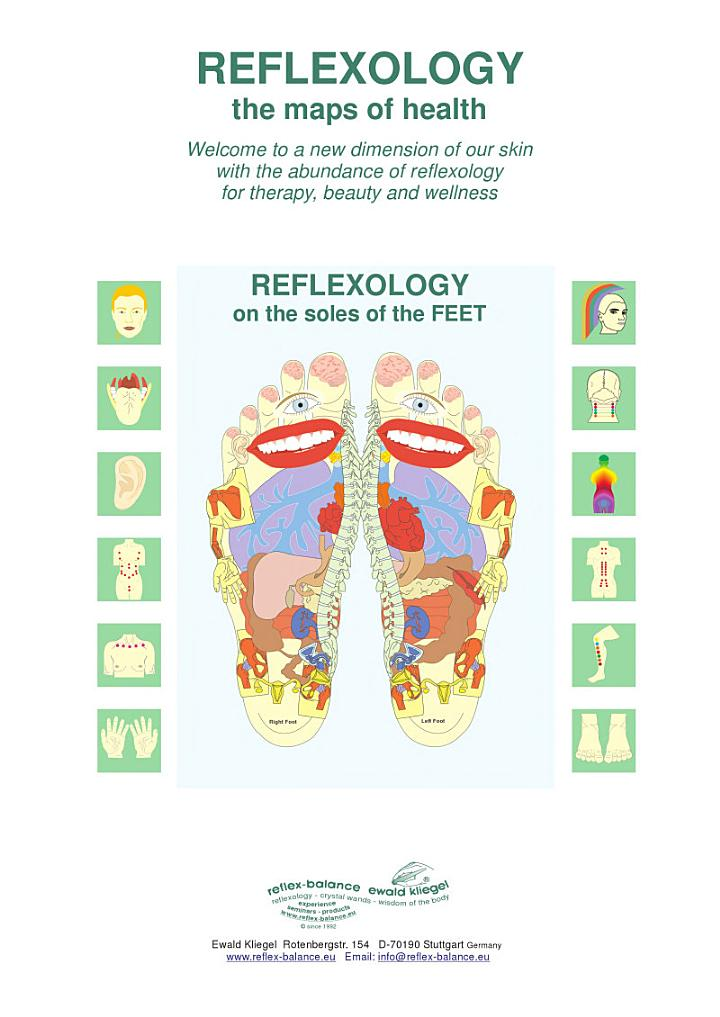 REFLEXOLOGY on the soles of the FEET