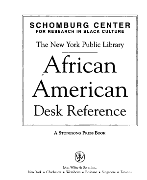 The New York Public Library African American Desk Reference PDF