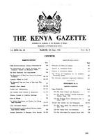 Kenya Gazette PDF