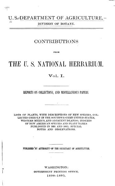 Contributions from the National Herbarium PDF