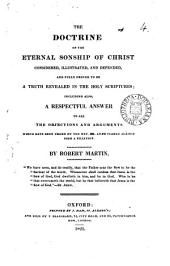 The doctrine of the eternal sonship of Christ: Volume 4
