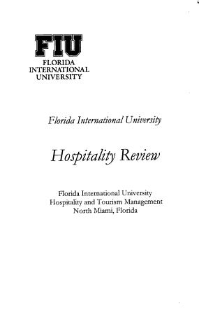 FIU Hospitality Review PDF