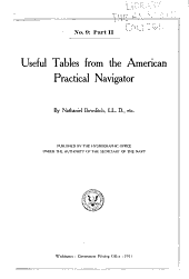 Useful tables from the American practical navigator: (Böwditch).