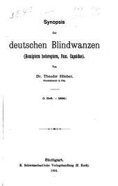 Synopsis der deutschen Blindwanzen (Hemiptera heteroptera, Fam. Capsidae): Heft 1.-17