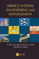 Service Systems Engineering and Management PDF