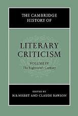The Cambridge History of Literary Criticism  Volume 4  The Eighteenth Century PDF