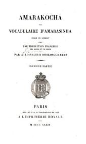 Amarakocha; ou, Vocabulaire d'Amarasinha: Volume1