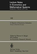 In Search of Economic Indicators