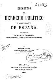 Elementos del derecho político y administrativo de España