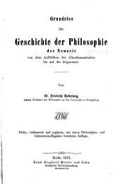 Grundriss der geschichte der philosophie der neuzeit von dem aufblühen der alterthumsstudien bis auf die gegenwart