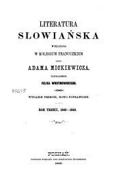 Literatura słowiańska wykładana w kolegium francuzkiem: Rok trzeci, 1842-1843, Tom 3