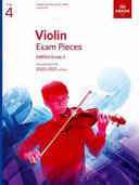 Violin Exam Pieces 2020-2023, ABRSM Grade 4, Score & Part