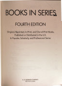 Books in Series PDF