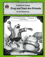 A Guide for Using Frog and Toad Are Friends in the Classroom PDF