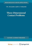 Three Dimensional Contact Problems PDF