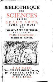 Bibliothèque des sciences, et des beaux arts: Volume30