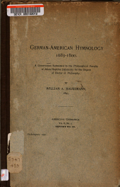 German-American Hymnology, 1683-1800