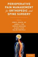 Perioperative Pain Management for Orthopedic and Spine Surgery PDF