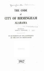 The Code of City of Birmingham  Alabama PDF