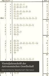 Vierteljahrsschrift der Astronomischen Gesellschaft: Bände 19-21