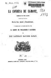 La condesa de Egmont: comedia en tres actos