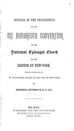 Journal of the     Annual Convention  Diocese of New York PDF