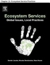 Ecosystem Services: Chapter 23. Ecosystem Service Practices