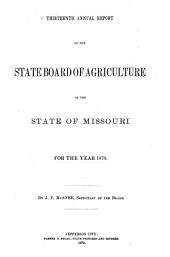 Annual Report of the State Board of Agriculture of the State of Missouri: Volume 13, Part 1878