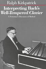 Interpreting Bach's Well-tempered Clavier