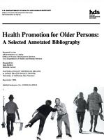 Health Promotion for Older Persons PDF