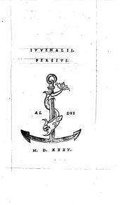 Juvenalis. Persius [Ed. Aldus Manutius]