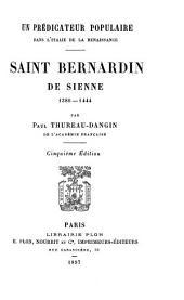 Un prédicateur populaire dans l'Italie de la Renaissance: Saint Bernardin de Sienne 1380-1444