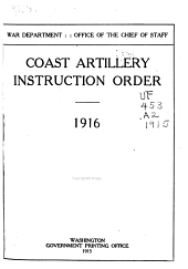 Coast Artillery Instruction Order, 1918