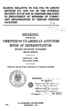 Hearings Before the Committee on Un American Activities  House of Representatives  Eighty seventh Congress  First Session PDF