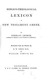 Biblio-theological Lexicon of New Testament Greek