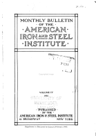Monthly Bulletin of the American Iron and Steel Institute PDF
