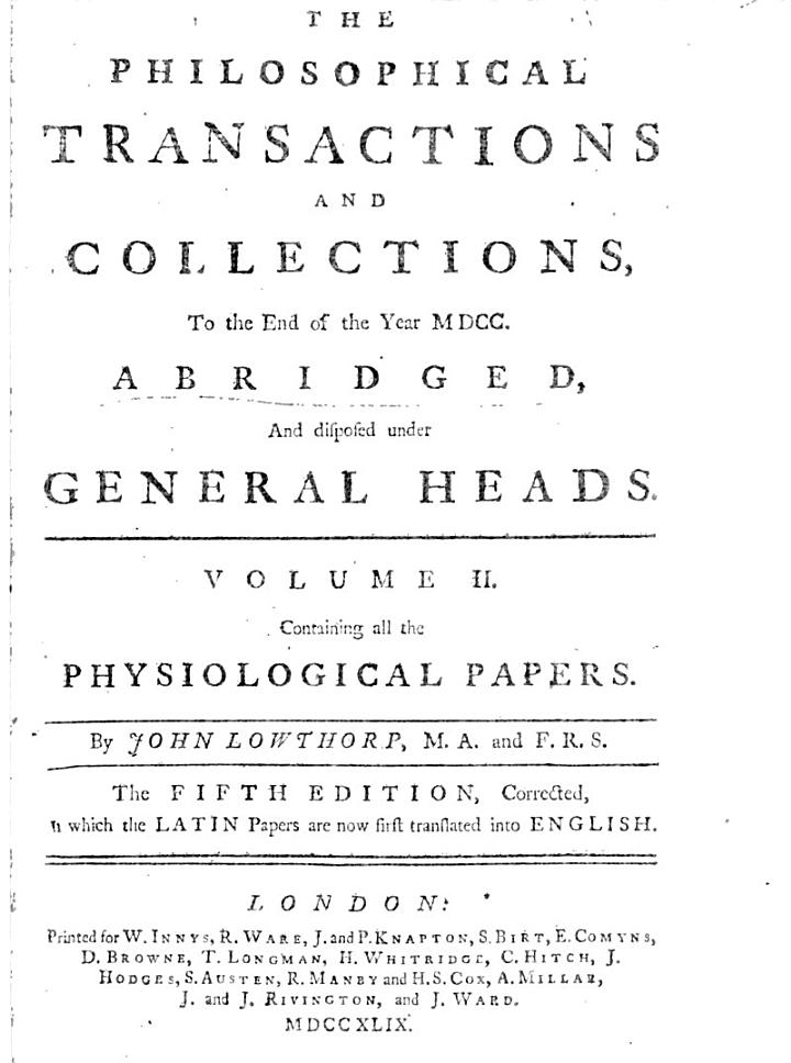 Philosophical Transactions and Collections