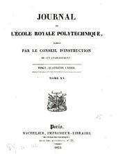 Journal de l'Ecole Polytechnique: Volume15