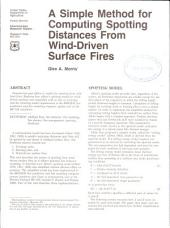 A simple method for computing spotting distances from wind-driven surface fires