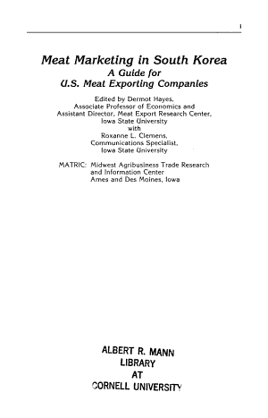 Meat Marketing in South Korea PDF