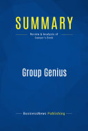 Summary: Group Genius