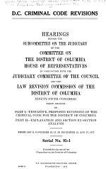 D.C. Criminal Code Revisions